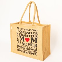 Jute M♥M Big Shopper Tote