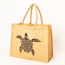 Jute  Turtle Shopping Bag