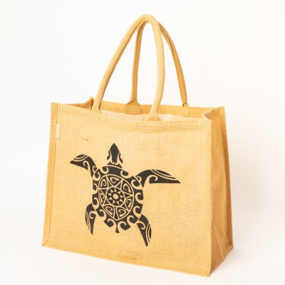 Turtle Jute Shopping Bag Image