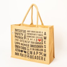 Jute D♥D Big Shopper Tote