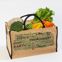 Jute Box Style Green Shopper