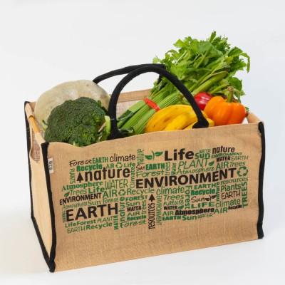Jute Box Style Green Shopper Image