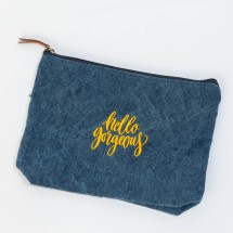 Hello Gorgeous Soft Jute Pouch.