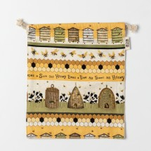 Save Our Bees Drawstring Pouch