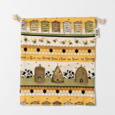 Save Our Bees Drawstring Pouch Image