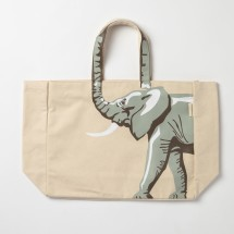 Elephant Canvas Tote Bag.