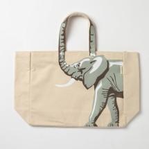 Elephant Canvas Tote Bag.