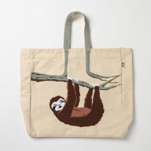 Sloth Tote Shoulder Bag Image