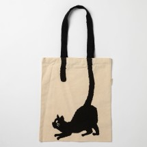 Cat tail tote bag