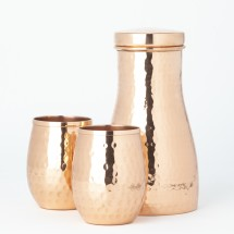 Copper Carafe with 2 Glasses