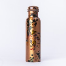Copper Floral Water Bottle