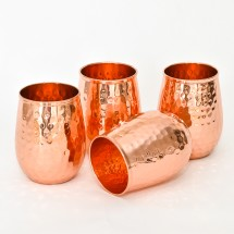 Copper Stemless Glasses (Set of 4)