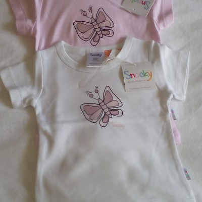 Snooky Bamboo T Shirts with Butterfly Motif Image