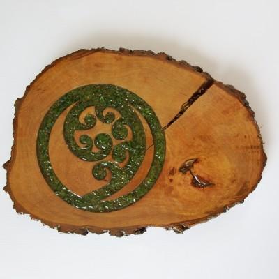Pohutukawa Fern Frond in Circle Image