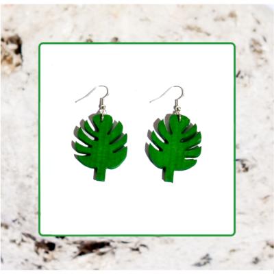 Macrocarpa Palm Leaf Earrings Image