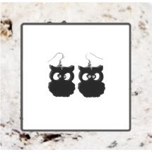 Macrocarpa Morepork (Ruru) Earrings