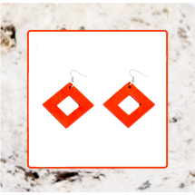 Macrocarpa Square Earrings