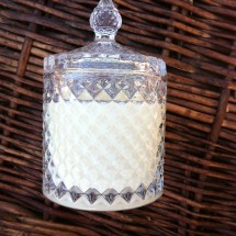 Crystal glass candle -Castle