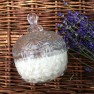 Lavender crystal glass candle Image