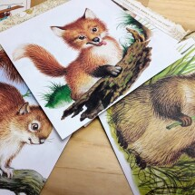 Cute Upcycled Book Bunting -  Baby Animals