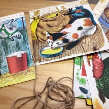 Cute Upcycled Bunting - The Animals of Farmer Jones
