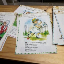Cute Upcycled Bunting - Mother Goose Nursery Rhymes
