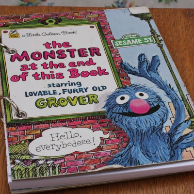 The Monster at the end of his Book Refillable Notebook Image