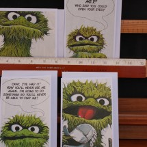 Upcycled Book Greeting Cards -Oscar's Book  1975