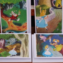 Upcycled Book Greeting Cards - Alice In Wonderland