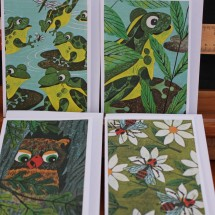 Upcycled Book Greeting Cards - Animal Counting Book