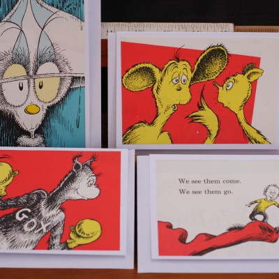 Upcycled Book Greeting Cards – One Fish Two Fish Image