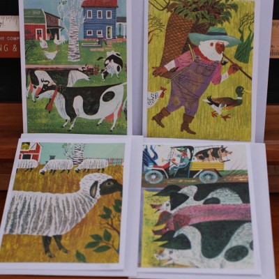 Upcycled Book Greeting Cards -Old MacDonald 1960 Image
