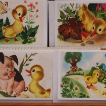 Upcycled Book Greeting Cards - The Fuzzy Duckling 1949