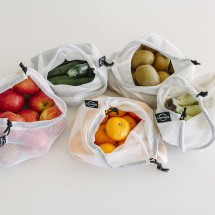 Set of 3 - Earthware Produce Bags for Fruit and Vege