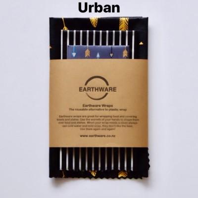 Earthware beeswax food wraps – SET OF 3 – URBAN Image