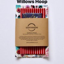 Earthware beeswax food wraps - SET OF 3 - WILLOWS HOOP