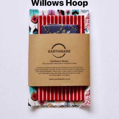 Earthware beeswax food wraps – SET OF 3 – WILLOWS HOOP Image