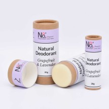 Natural Deodorant - Grapefruit & Lavender - Compostable Image