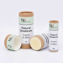 Natural Deodorant - Lemon & Mint - Compostable Image