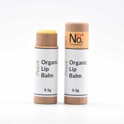 Organic Lip Balm – Peach – Compostable Tube Image