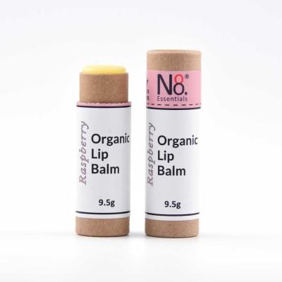 Organic Lip Balm – Raspberry – Compostable Tube Image