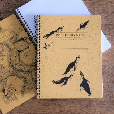 Large Spiral Notebook – King Penguins Image