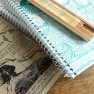 Large Spiral Notebook – Peacocks Image