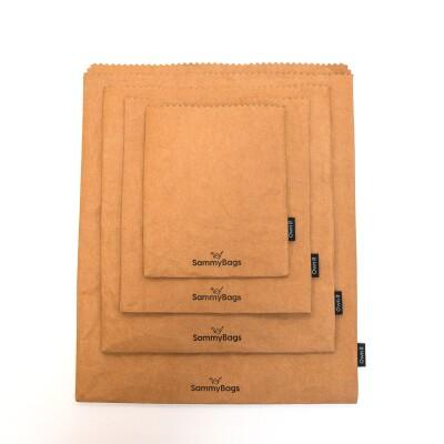 SammyBag Reusable Paper Bags – Brown Image