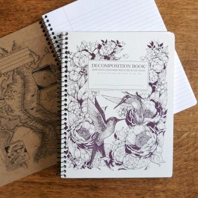 Large Spiral Notebook – Hummingbirds Image