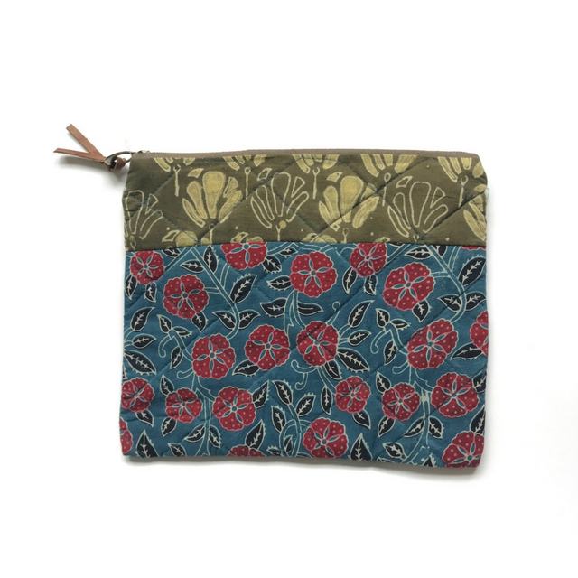 Blue Flower Cosmetic Bag By Bohome And Roam | Green Elephant NZ