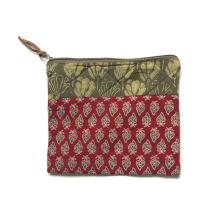Red Flower Cosmetic Bag