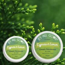 Cream Deodorant For Men - Cypress & Lemon (Organic) Image