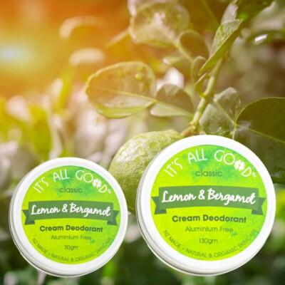 Cream Deodorant – Lemon & Bergamot (Organic ) Image