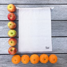 Set of 5 Reusable Natural Cotton Bags (30.5x40.5cm)